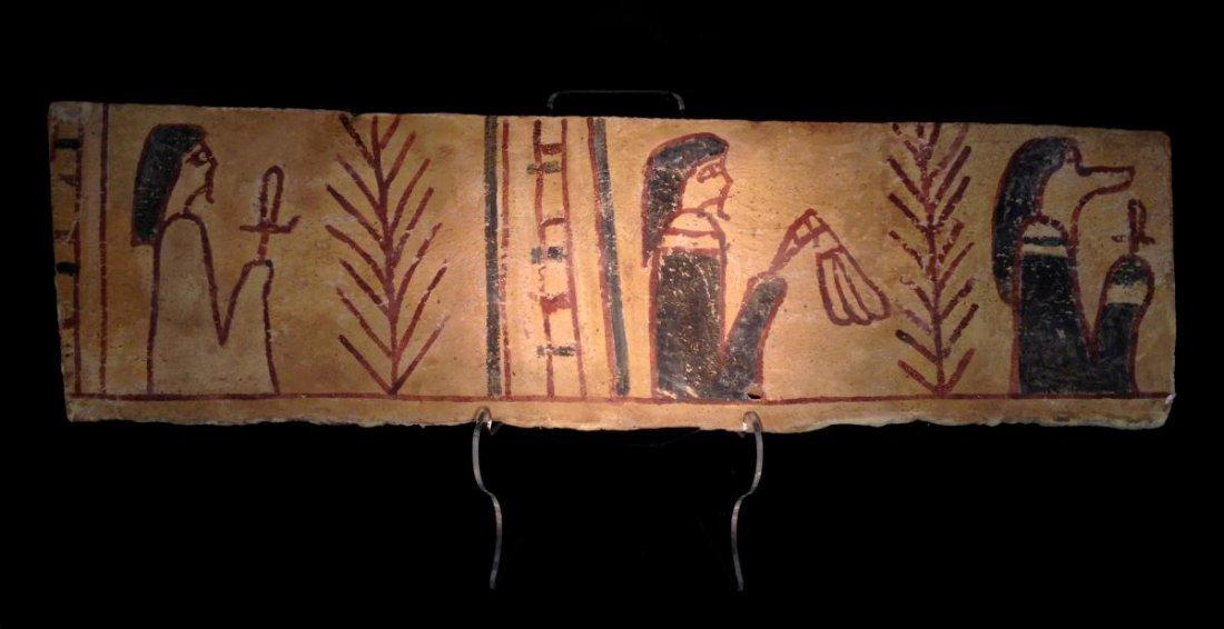 Egyptian Wood Sarcophagus Fragment