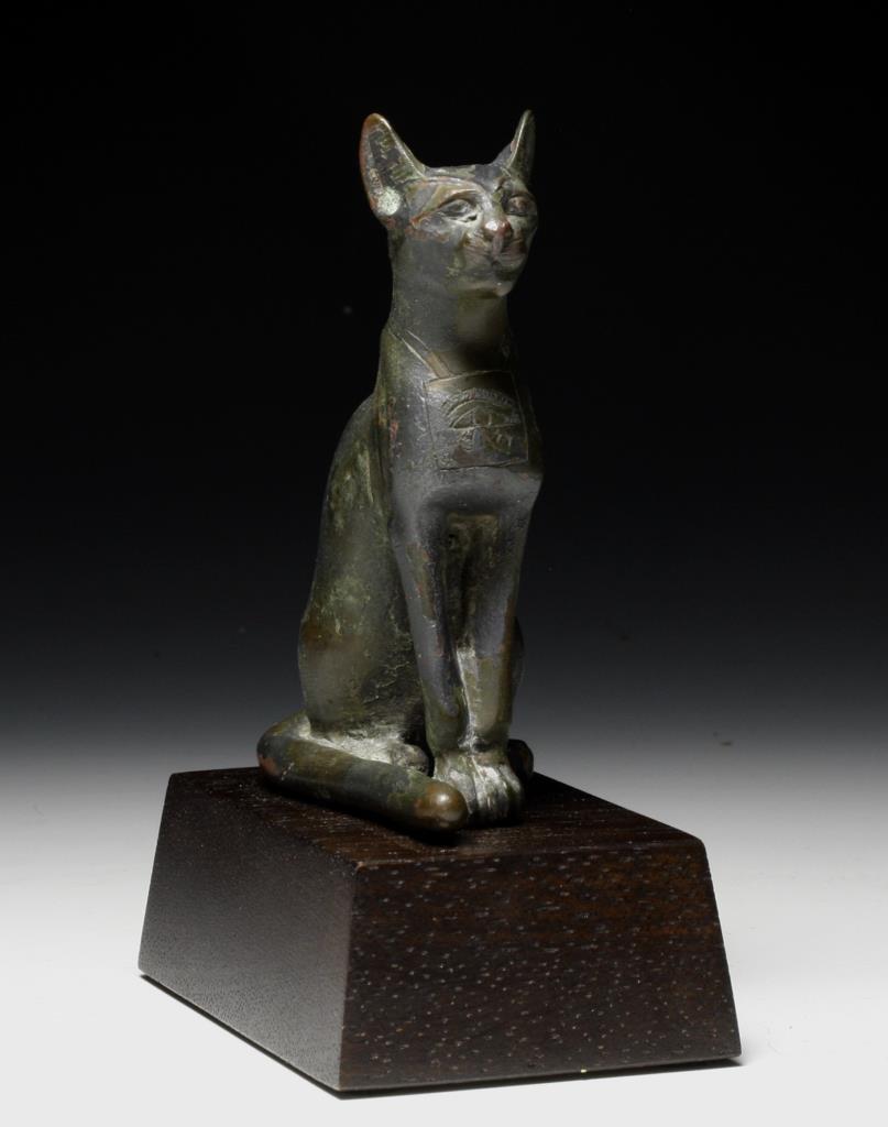 Egyptian Bronze Bastet Figure, ex-Chaffee