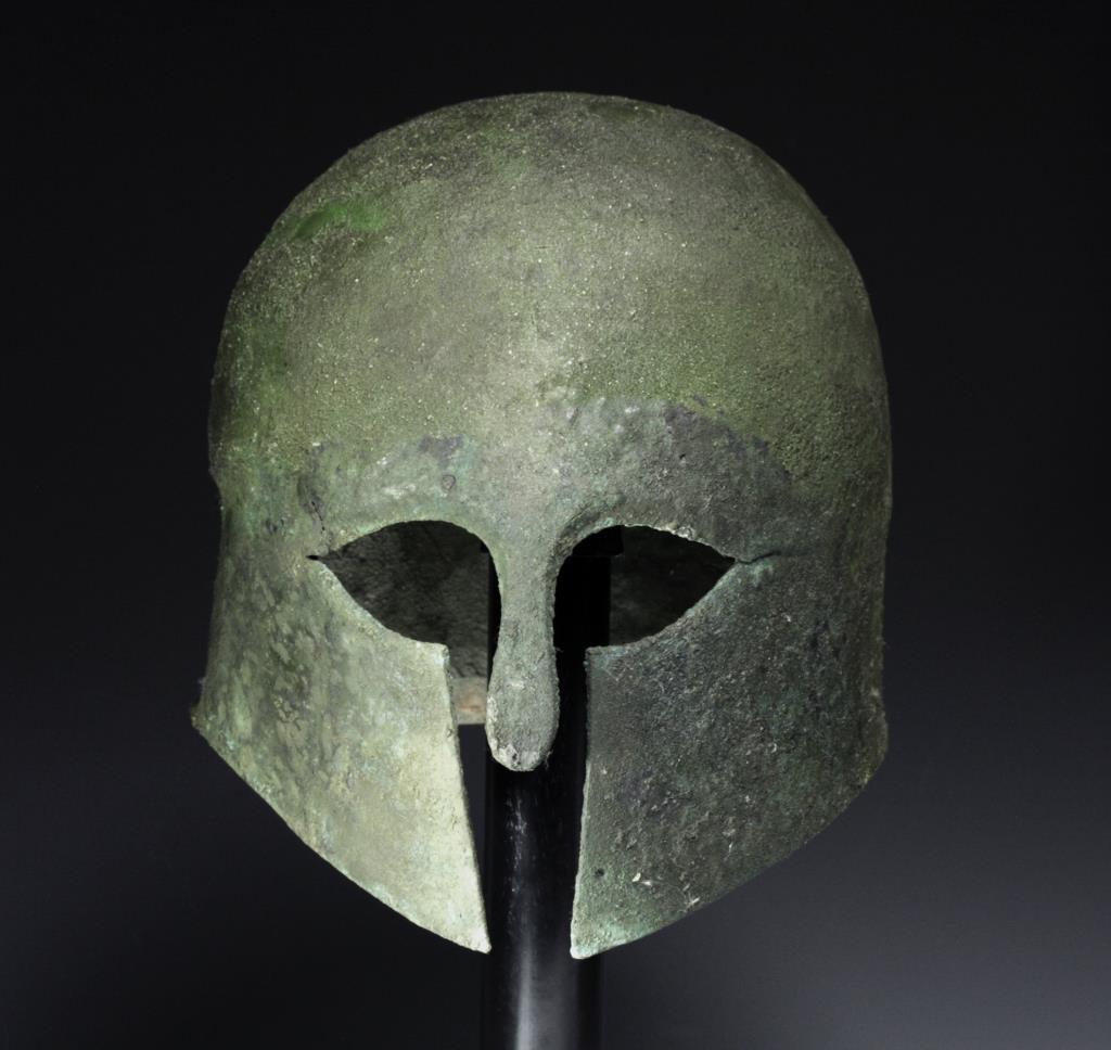Greek Corinthian Bronze Helmet, ex-Artemis Gallery