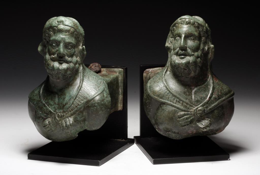 Superb Roman Bronze Chariot Fittings of Hercules