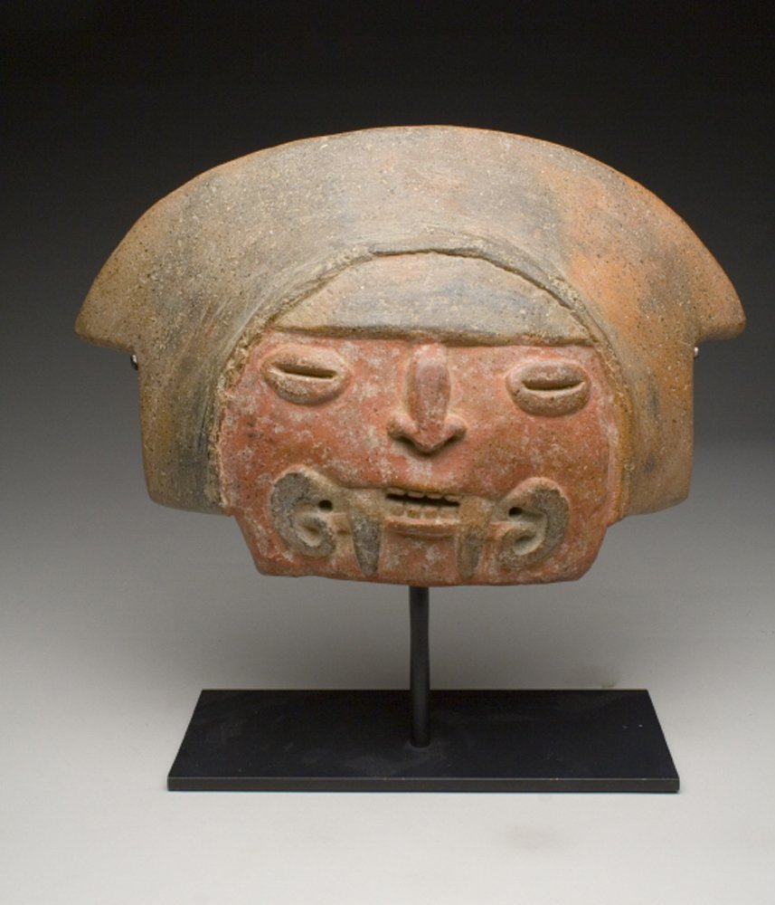 Exceptionally Rare Chavin Pottery Mask