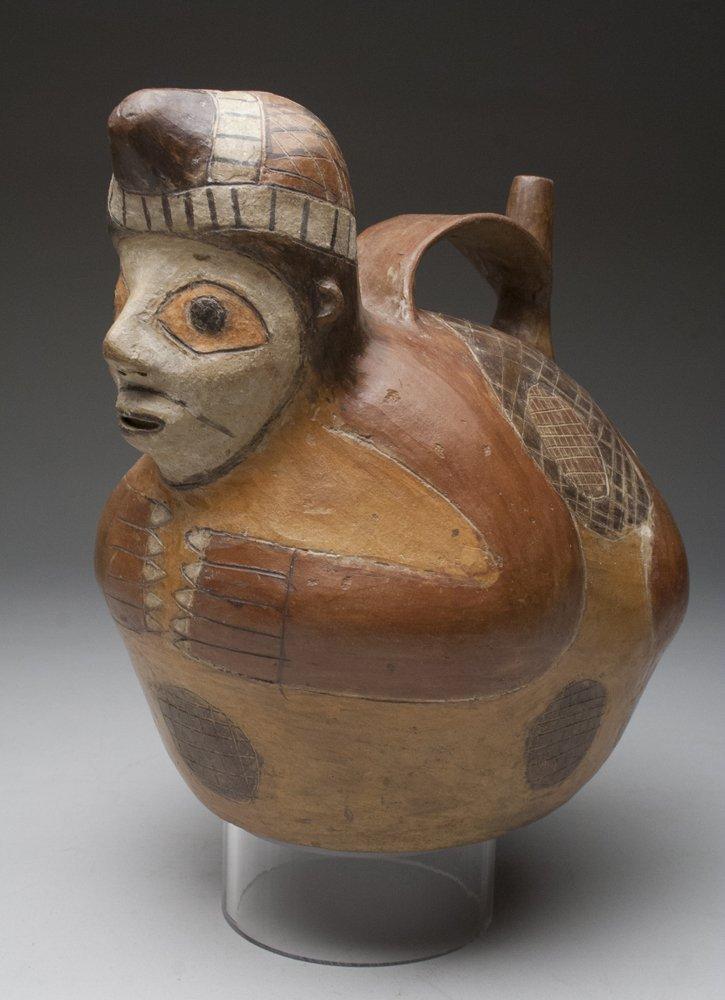 Pre-Columbian Paracas Stirrup Jar - Fisherman