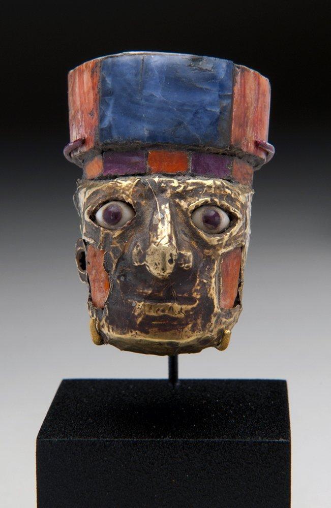Nazca / Huari Golden Miniature Head