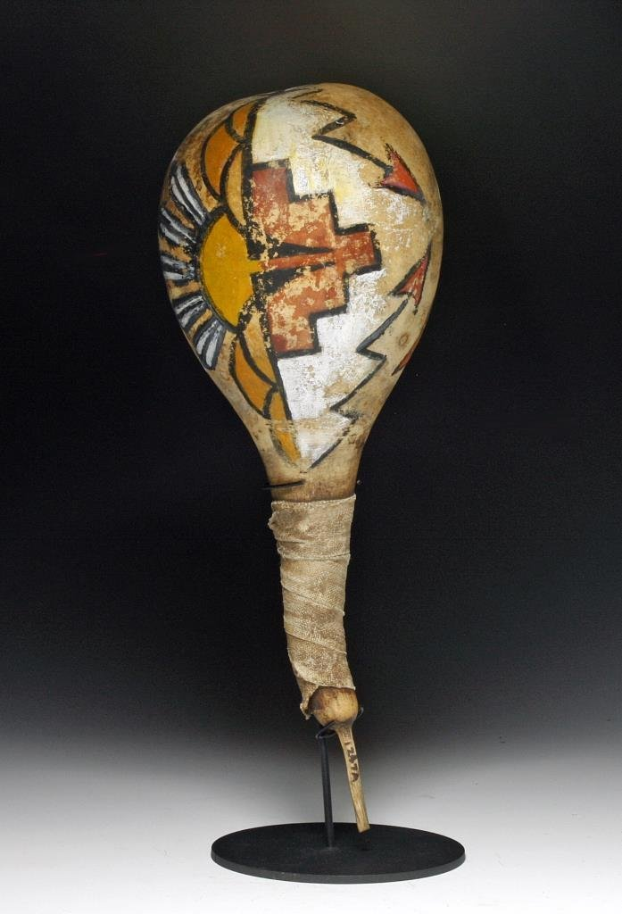 Pueblo Native American Gourd Rattle