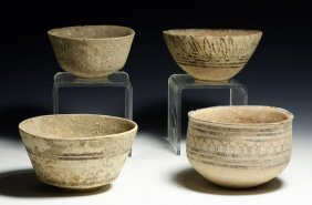 Lot of 4 Ancient Indus Valley Bowls