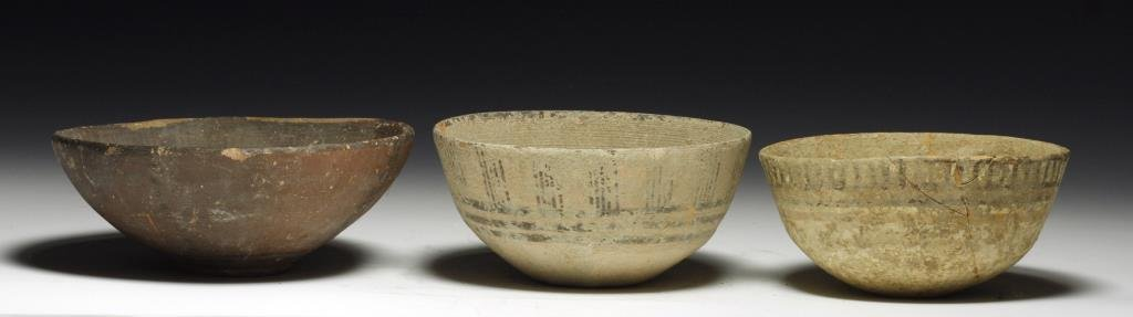 Lot of 3 Indus Valley Shallow Bowls