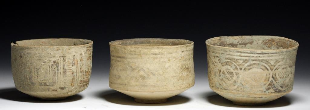 Lot of 3 Indus Valley Cylinder Bowls
