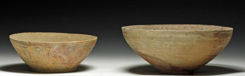 Lot of 2 Large Indus Valley Bowls