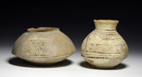 Lot of 2 Indus Valley Saucer Ollas