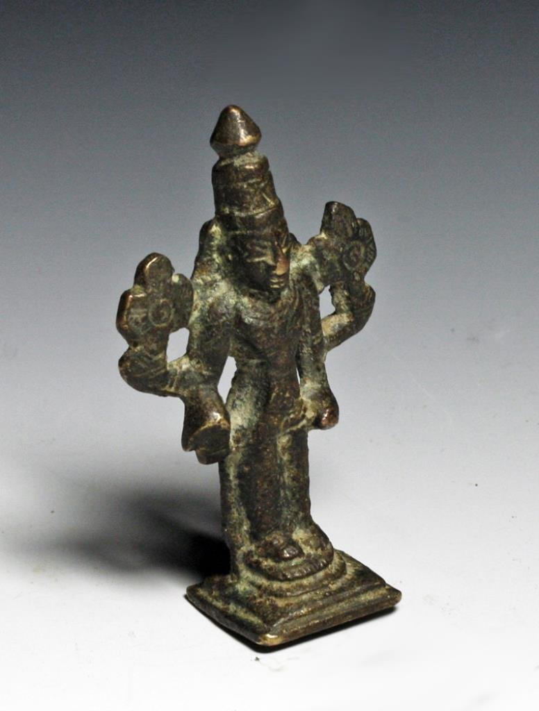 Antique Bronze Statue of a Diety - Vadivudai Amman - 2