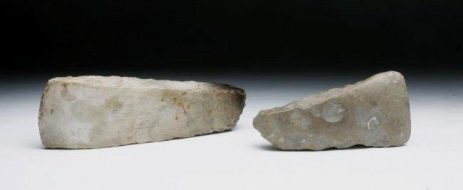 Pair of European Neolithic Stone Axes