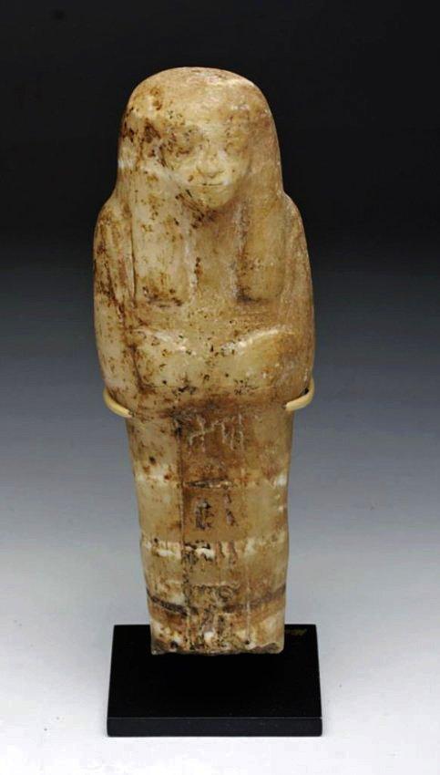 Egyptian New Kingdom Alabaster Ushabti - Translated