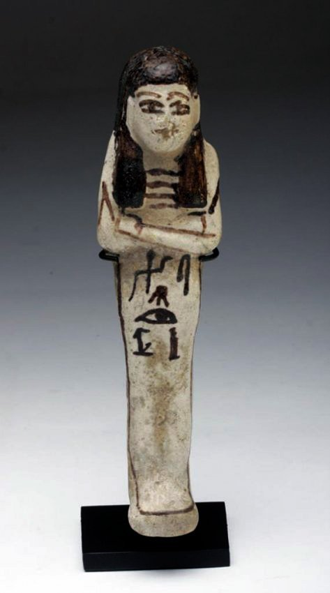 Egyptian White Glazed Ushabti - Translated