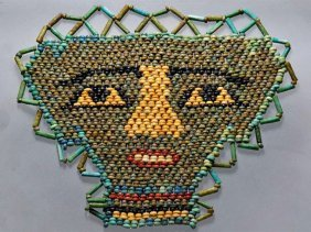 Egyptian Composition Mummy Bead Face Mask