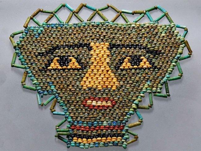 Egyptian Composition Mummy Bead Face Mask