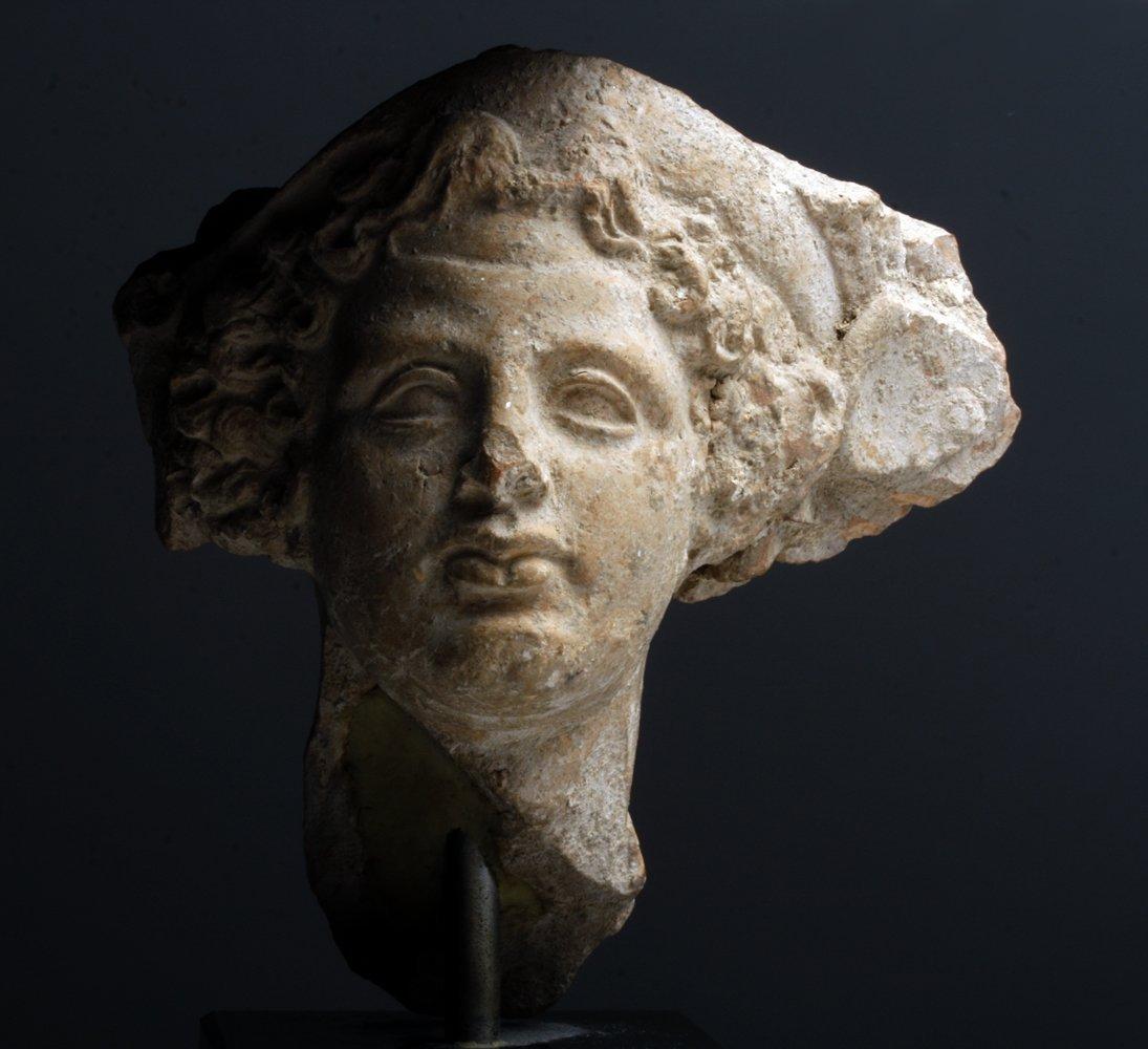 Greek Terracotta Head of Dionysus