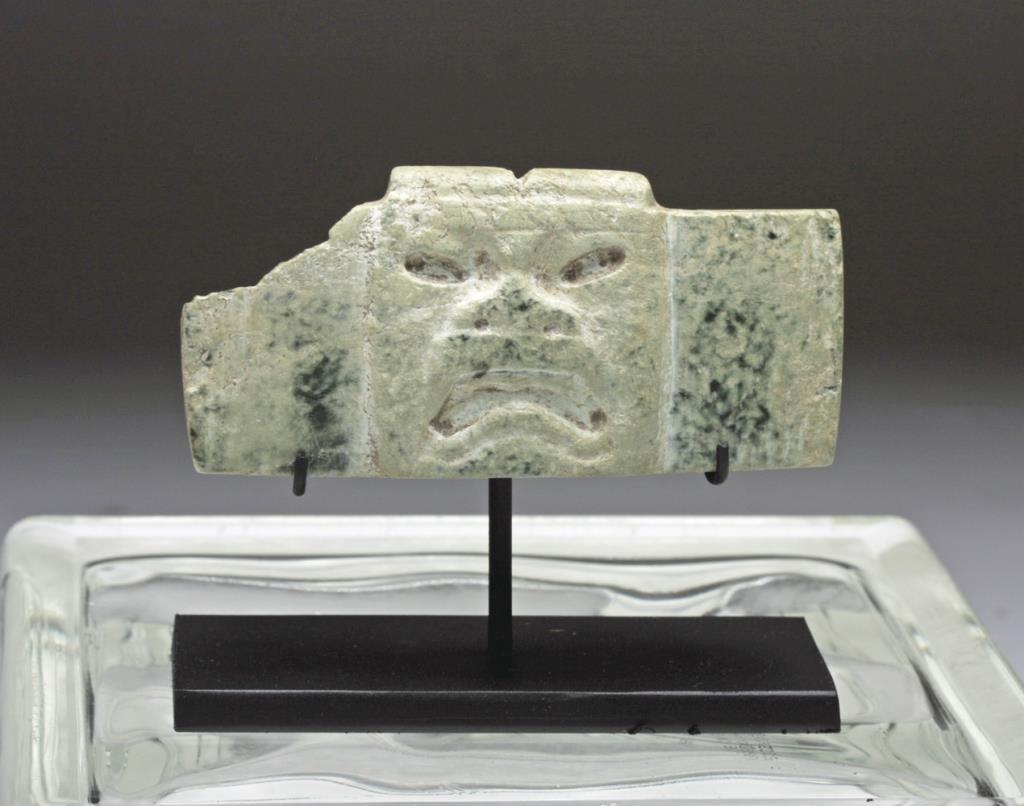 Pre-Columbian Olmec Greenstone Plaque