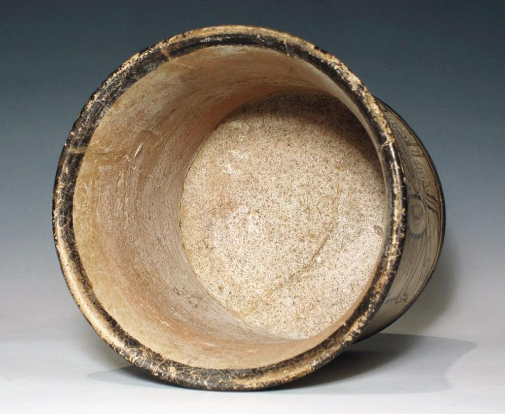 Mayan Codex Style Pottery Cylinder Vessel - 5