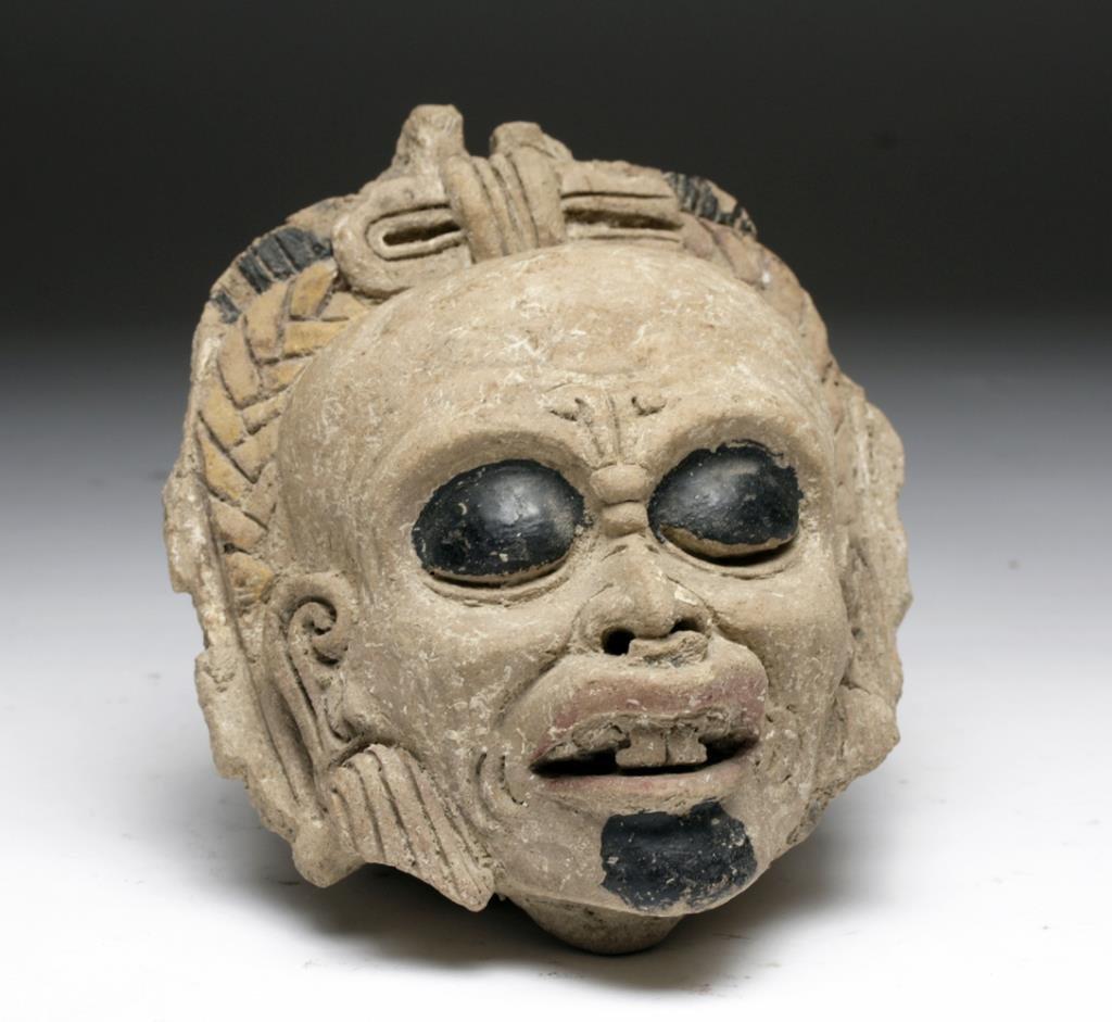 Pre-Columbian Veracruz Head Vessel