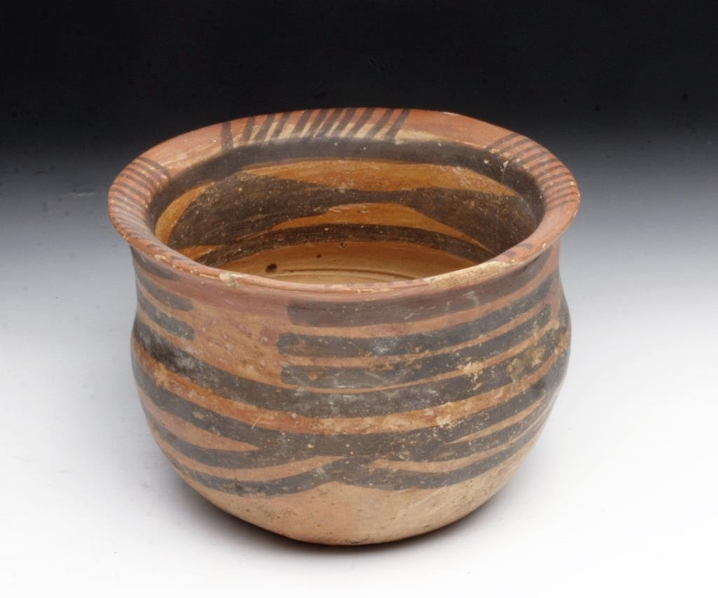 Chinese Neolithic Bi-Chrome Painted Jar