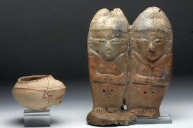 Chorrera Anthropomorphic Bowl + Manabi Female