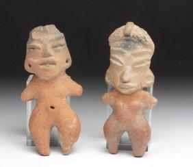 Lot of 2 Michoacan Terracotta Pretty Ladies
