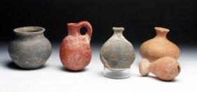 Lot of 5 Near Eastern Terracotta Vessels