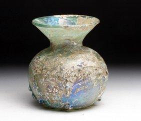 Tall Ancient Roman Glass Flask