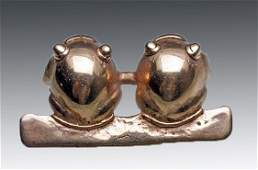 Panamanian Gold Pendant - Double Frogs