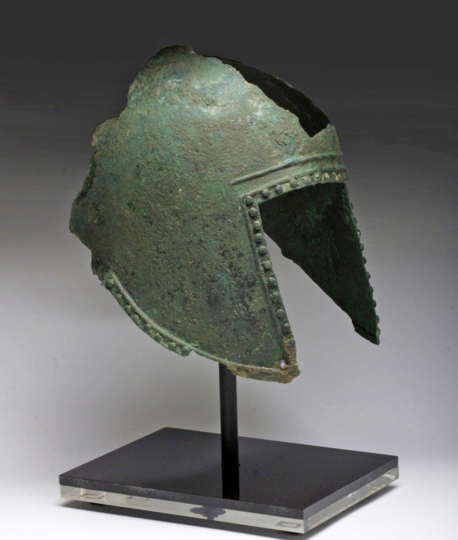 Greek Illyrian Bronze Helmet