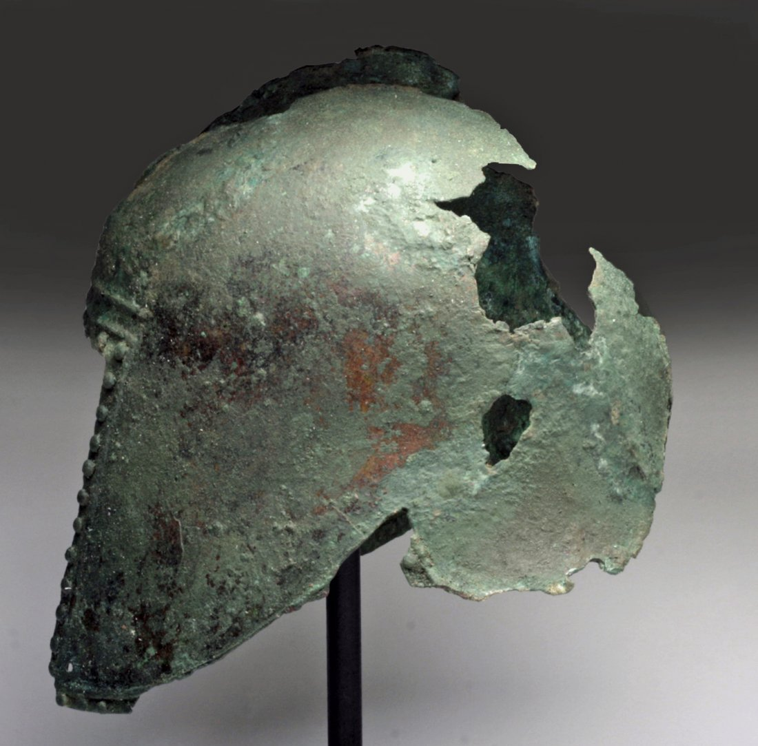 Greek Illyrian Bronze Helmet - 3
