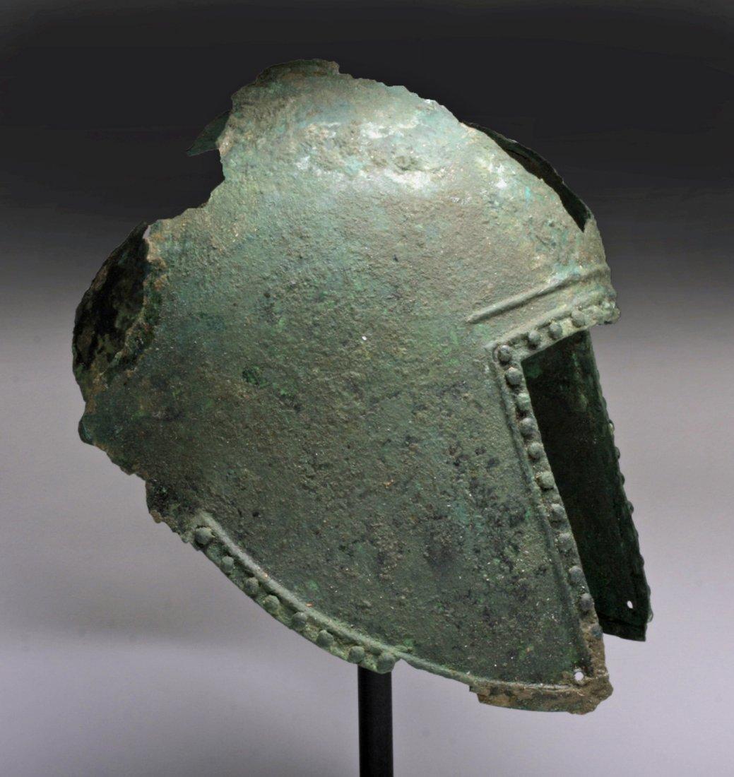 Greek Illyrian Bronze Helmet - 4