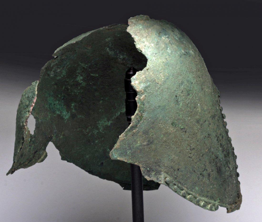 Greek Illyrian Bronze Helmet - 5