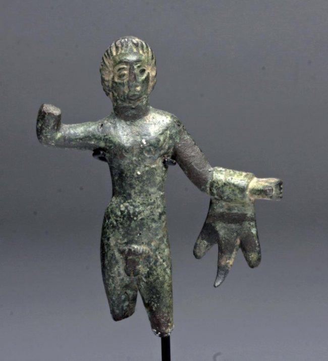 Etruscan Bronze Hercules Statuette