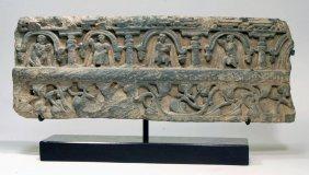 Gandharan Schist Relief Panel (Lintel)
