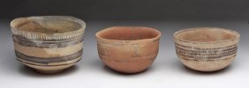 Lot of 3 Indus Valley Bowls