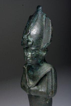 "Huge Egyptian Bronze Osiris 8""H"