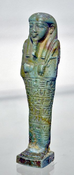 Egyptian Faience Ushabti For Oudja-Hor