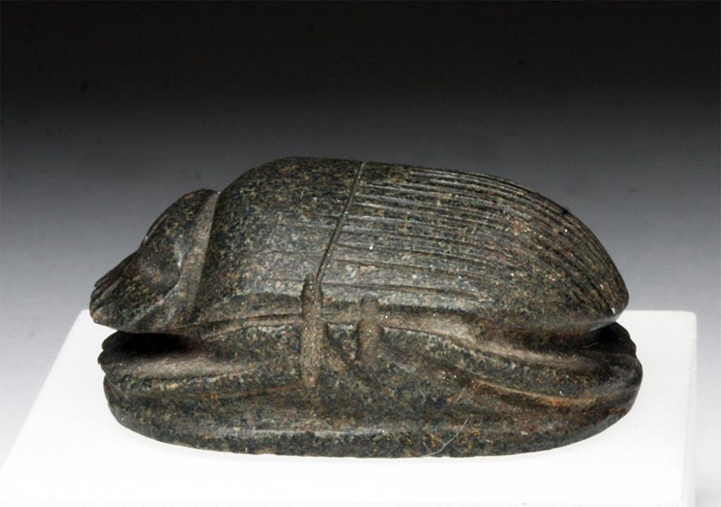 Egyptian Granite Heart Scarab