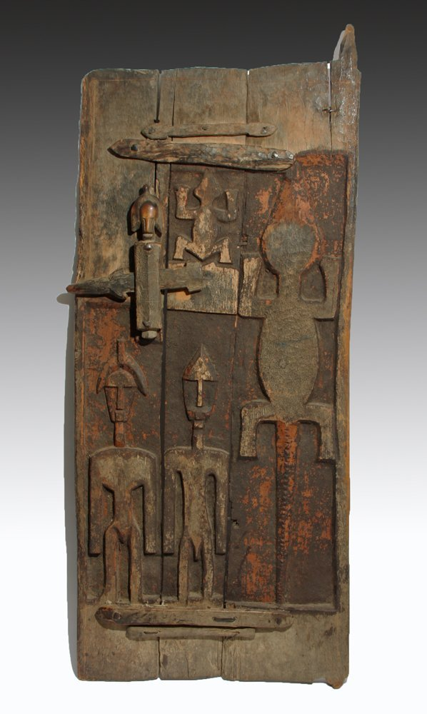 Bamana Wood Granary Door, ex-Carlos Museum