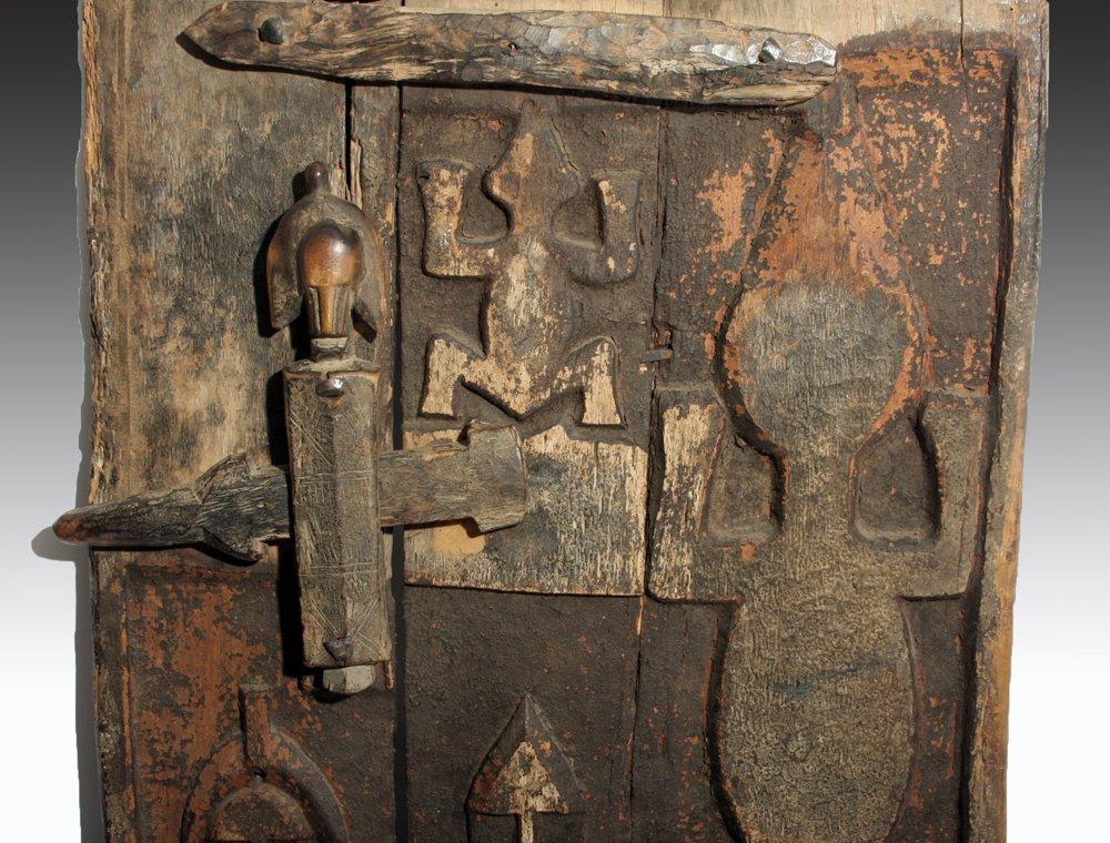 Bamana Wood Granary Door, ex-Carlos Museum - 2