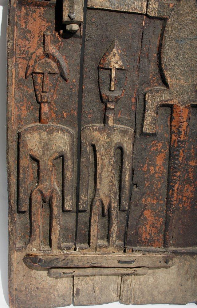 Bamana Wood Granary Door, ex-Carlos Museum - 3