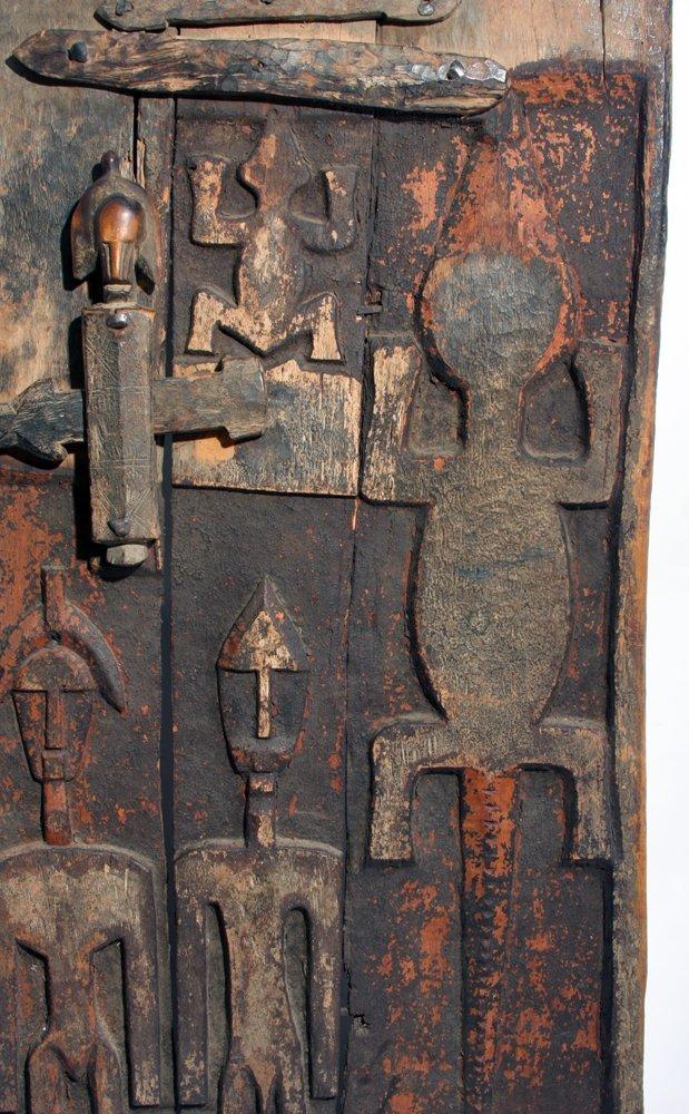 Bamana Wood Granary Door, ex-Carlos Museum - 4