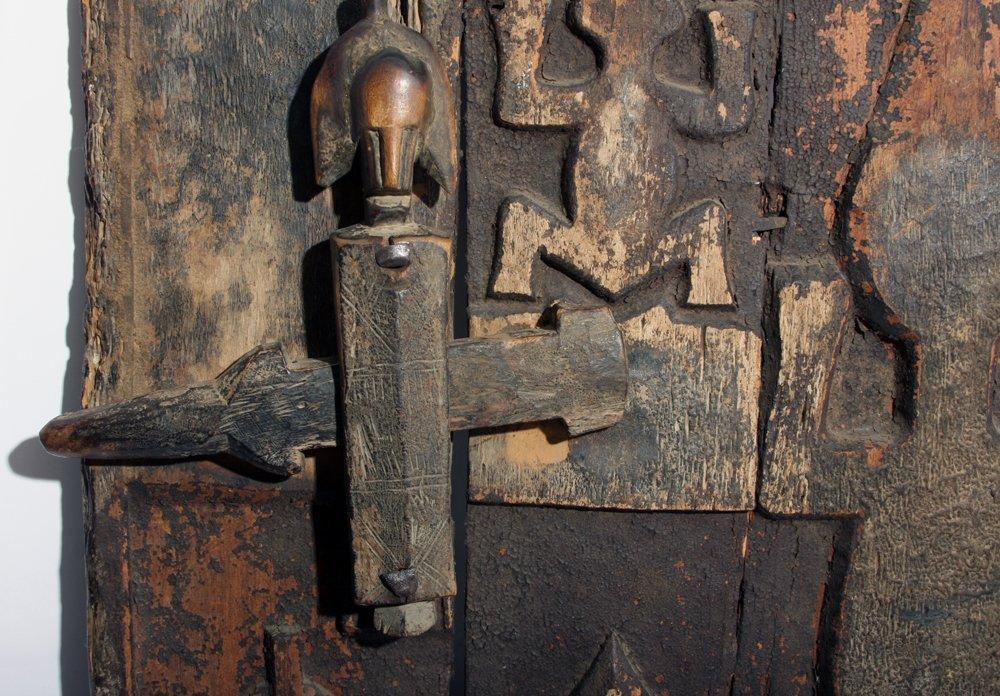 Bamana Wood Granary Door, ex-Carlos Museum - 5