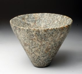 Important Egyptian Diorite Conical Offering Bowl