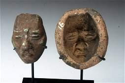Maya Terracotta Figural Mask Mold