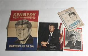 Lot of 4 Vintage JFK Memorabilia Pieces