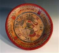 Mayan Peten Footed Tripod Plate exHollywood