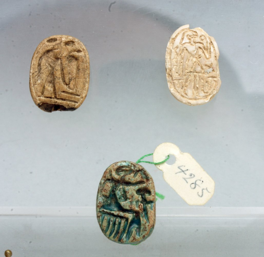 Lot of 3 Egyptian Scarabs, Ex-Mitry