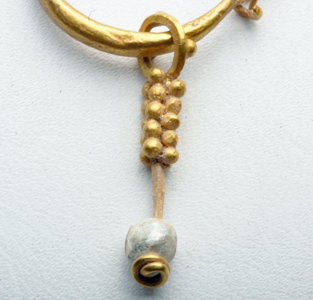Pr Roman Gold Earrings - Grape Clusters - 2